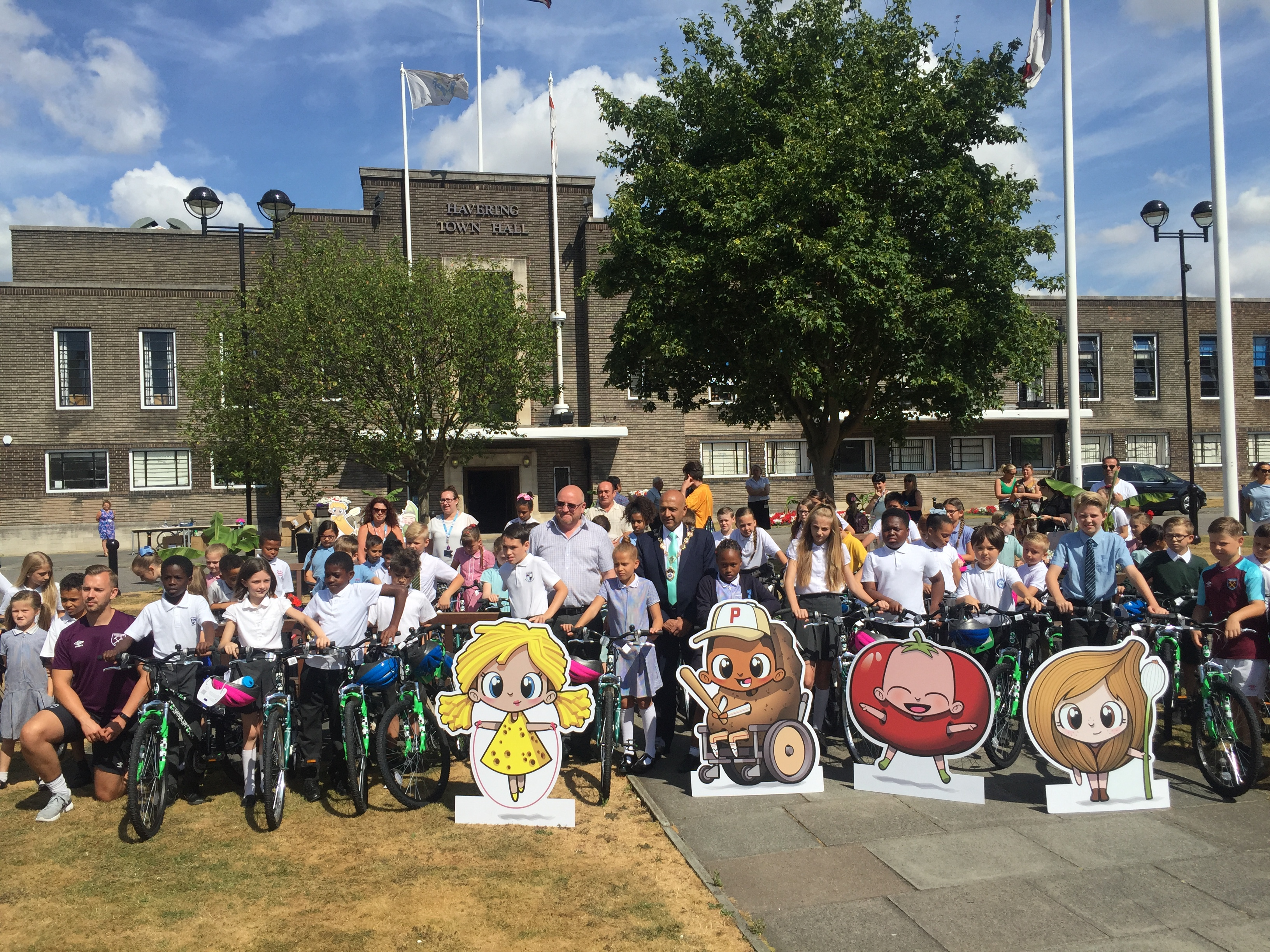 Almost 70 children collect their new bike from Havering Council