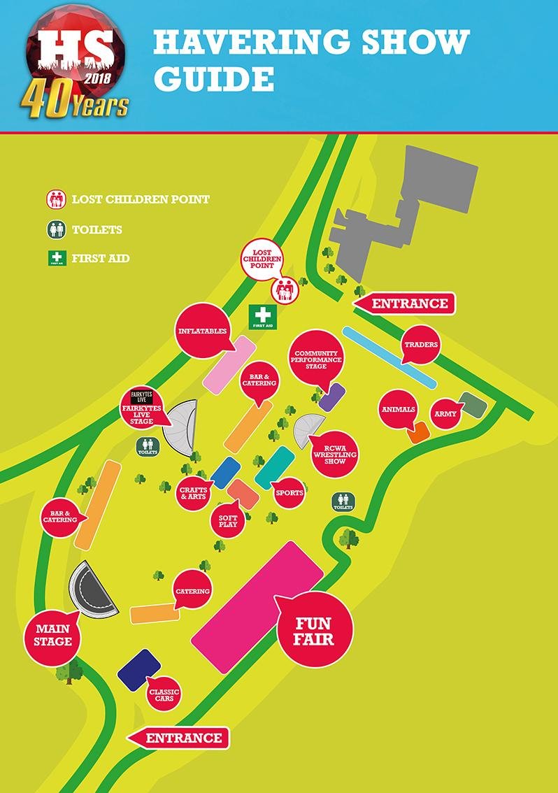 havering show map