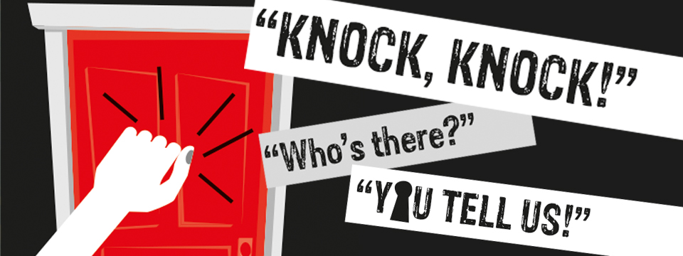 Knock Knock campaign banner