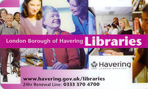 Adult Havering library card