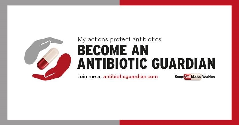 Antibiotic banner for public health landing page