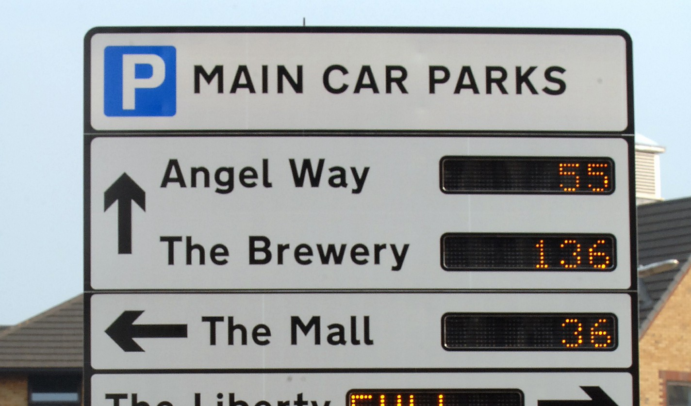 Havering car parks street sign