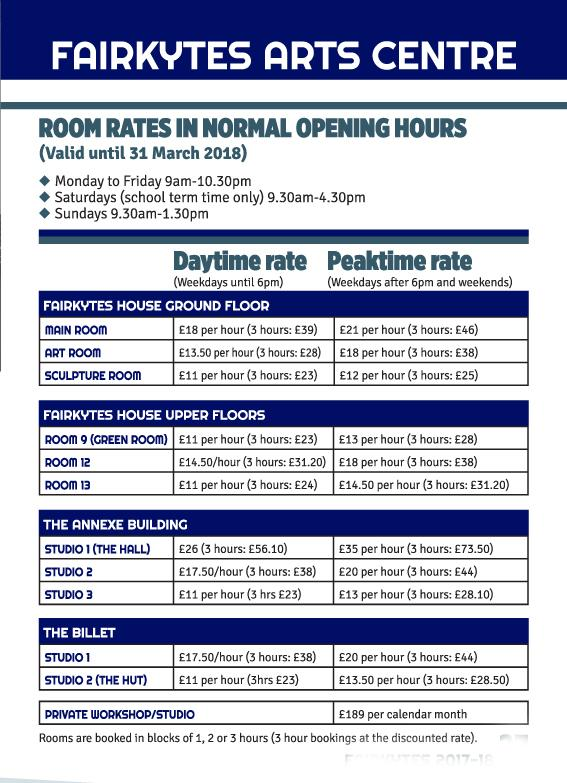 Fairkytes room rates