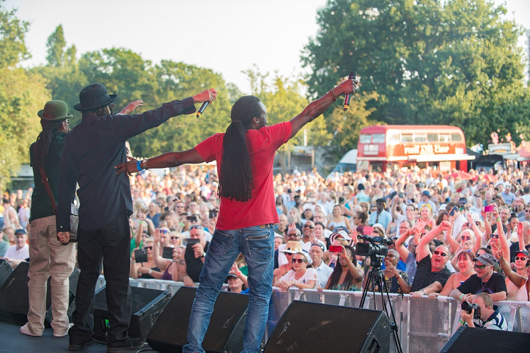 Aswad performing at the Havering Show