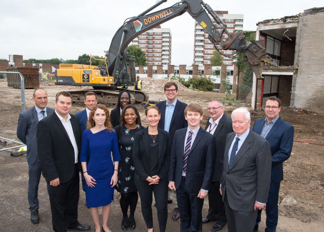 Havering Council Cabinet and Chief Exec with Wates Residential colleagues at SSS demo