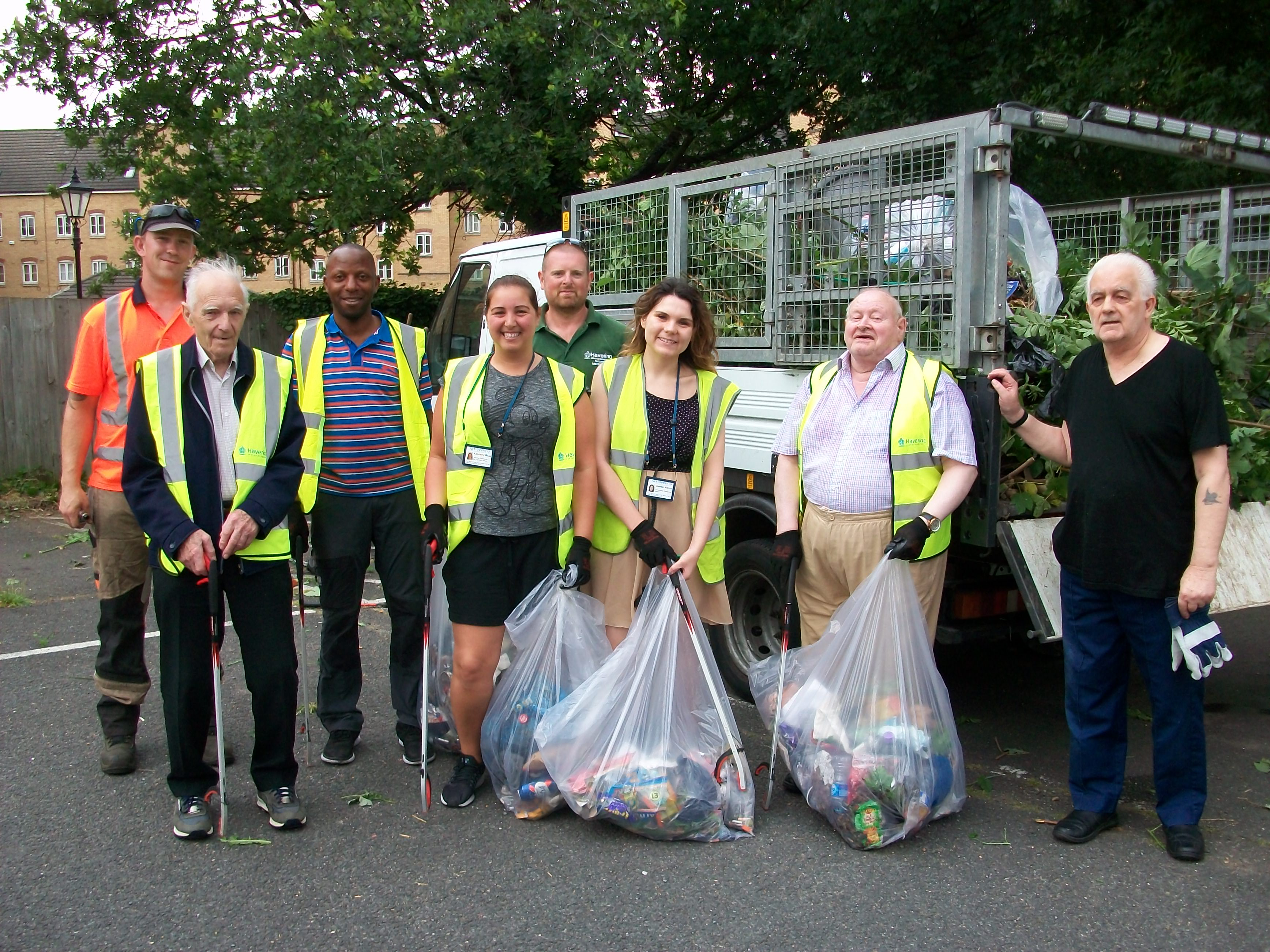 Residents clean up car park