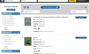 Image of library catalogue search