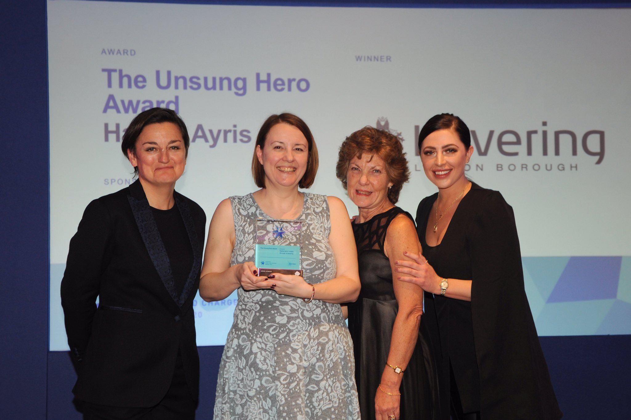 Hayley Ayris receives her Unsung Hero Award