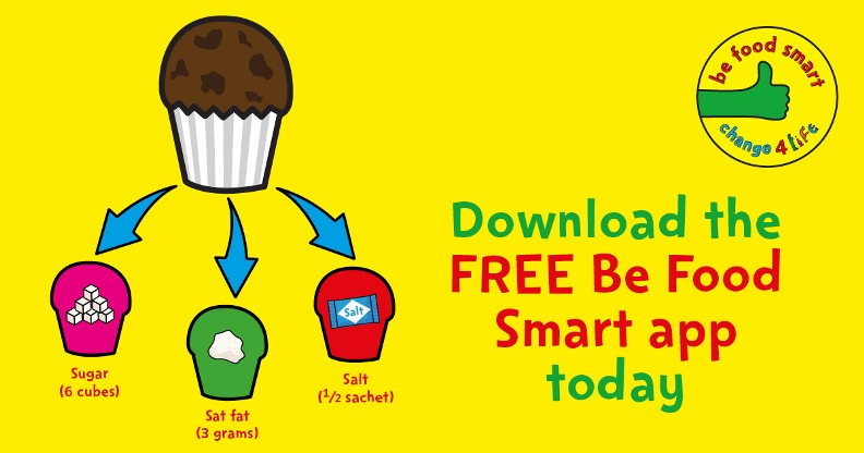 Download the free Be Food Smart app