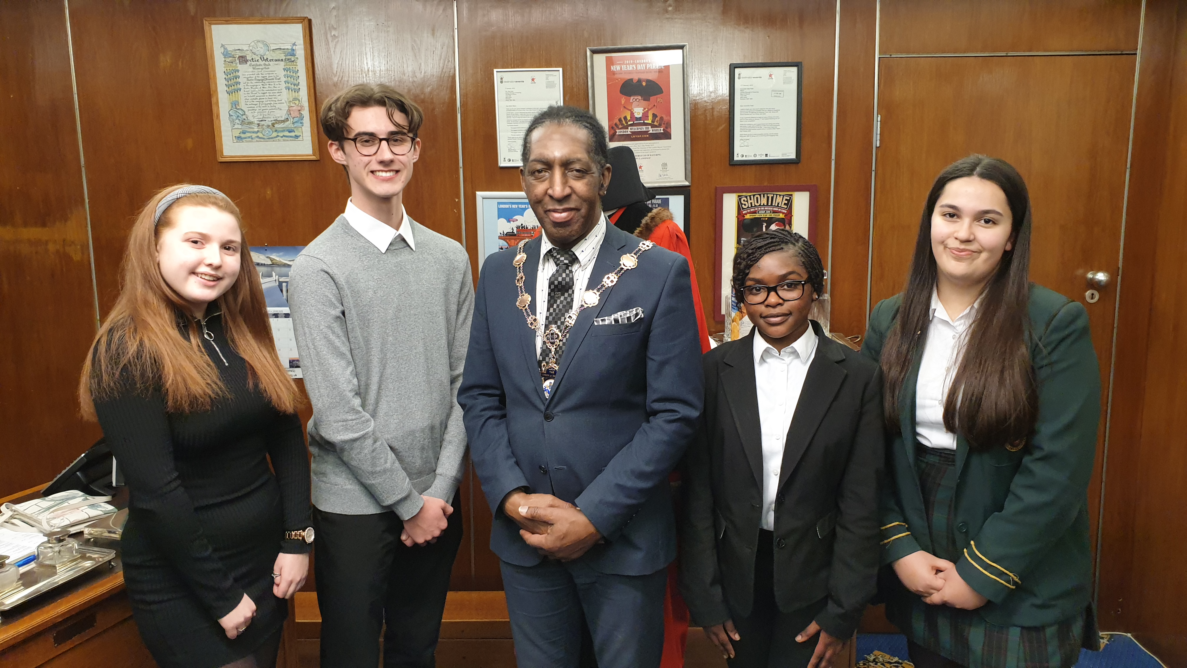 New and former havering myps with mayor