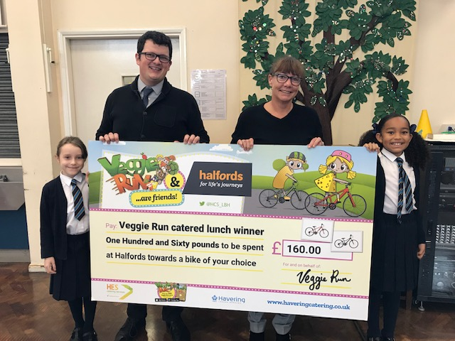 St Edward's School pupils receive £160 cheque to buy a new bike