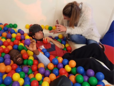 Yew Tree Centre - Playing in ball pit
