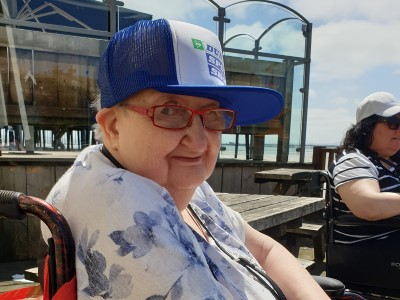 Yew Tree Centre - Service user at the seaside