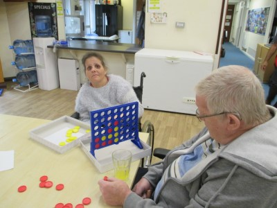 Yew Tree Centre - Two people playing a game