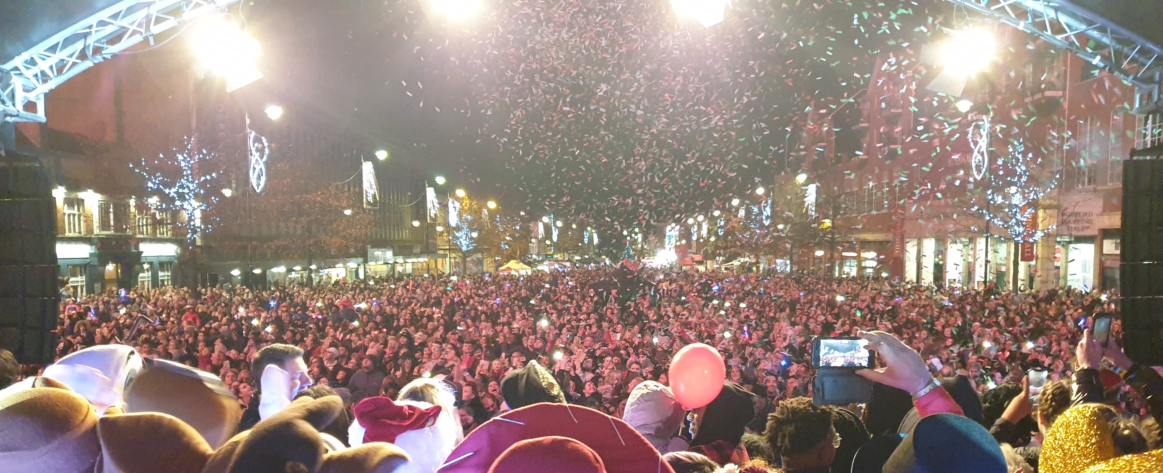 Romford celebrates the Christmas lights switch on