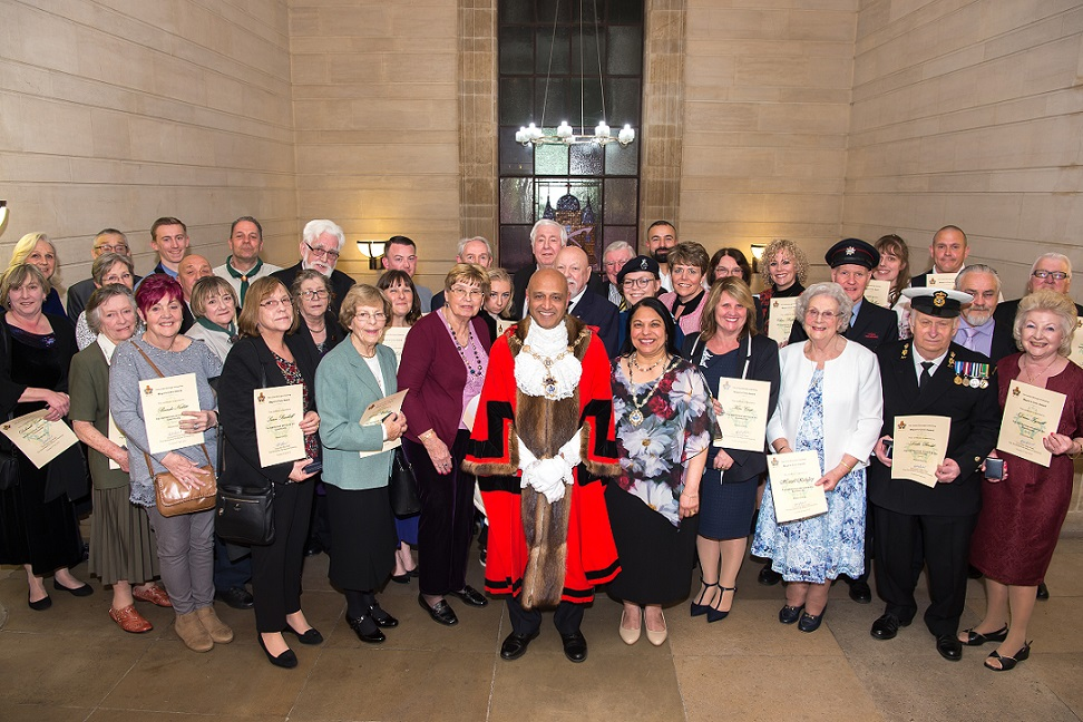Mayor of Havering with the Civic Award winners