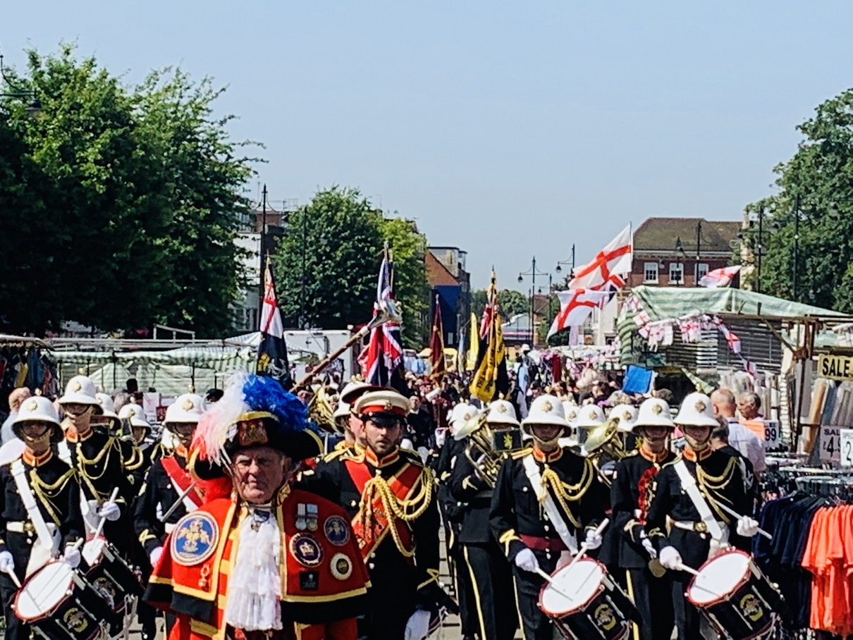 Parade marches through Romford Market