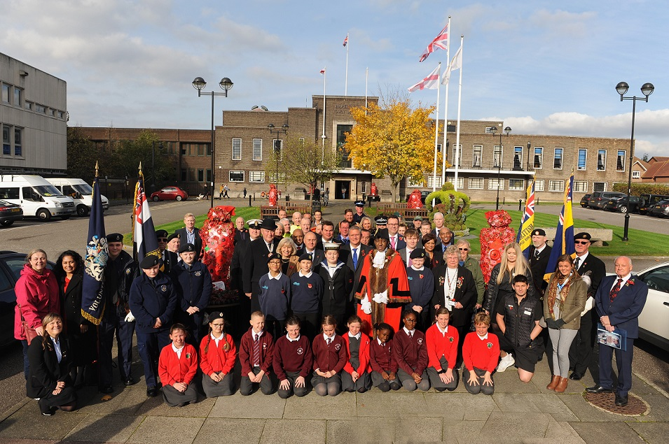 The Havering Poppy Appeal 2019 launches at the Town Hall