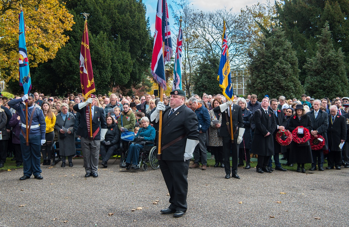 A packed Coronation Gardens for last year's Remembrance Sunday service in Romford.