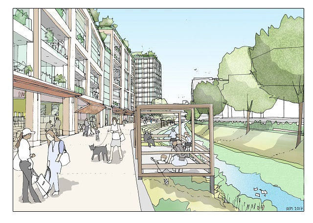 Artist impression of Bridge Close